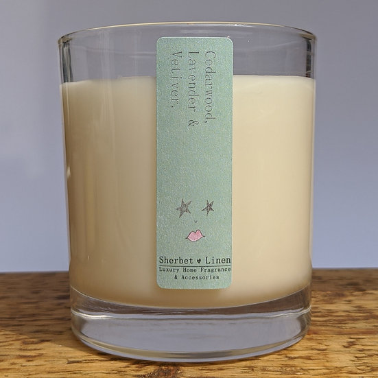 Cedarwood, Lavender & Vetiver Luxury Soy Wax Candle