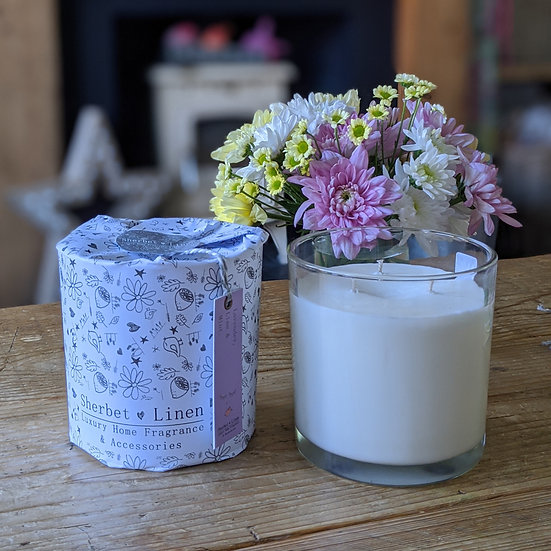 Lavender, Lime & Mint Luxury, Triple Wick, Soy Wax Candle