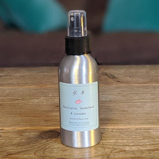 Eucalyptus, Sandalwood & Lavender Luxury Room Spray. 100% Pure Essential Oil