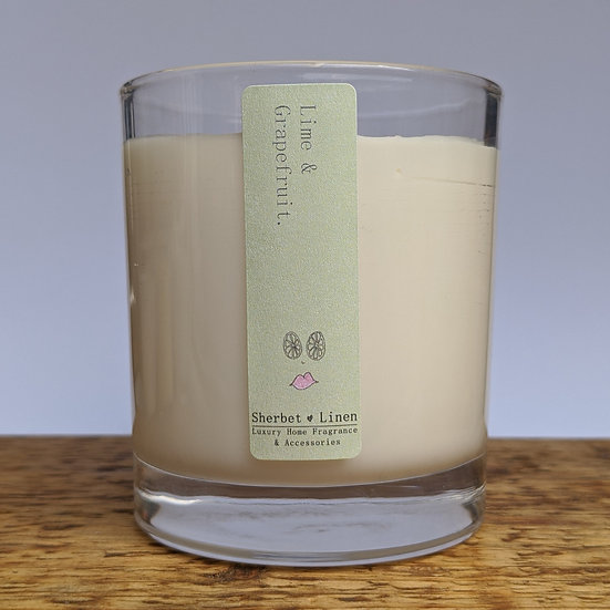 Lime & Grapefruit Luxury Soy Wax Candle