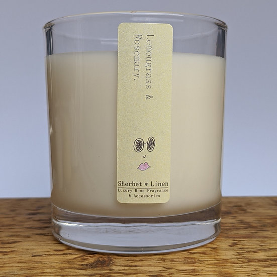 Lemongrass & Rosemary Luxury Soy Wax Candle