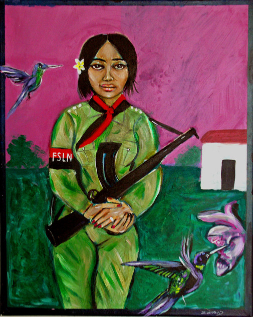 Woman Soldier, Nicaragua 1989