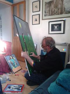 Bill in his studio 2018