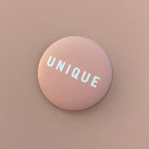 Badge Unique Rose Pâle