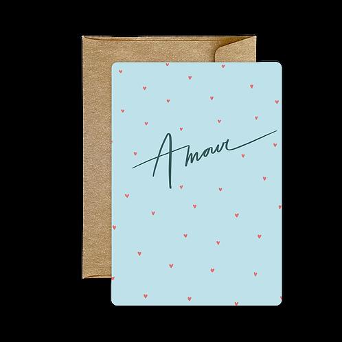 Carte Amour Bleue ❤