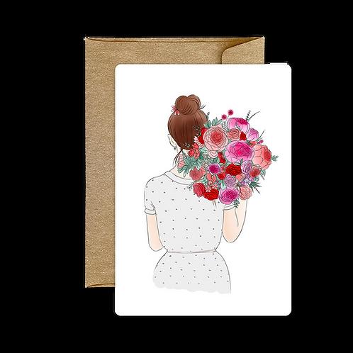 Carte Bouquet Dos Gris