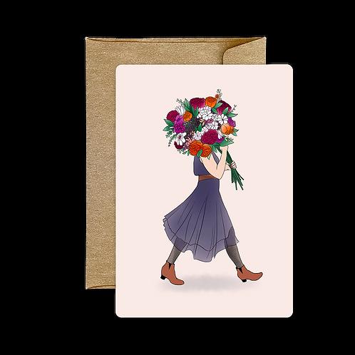 Carte Bouquet Prune