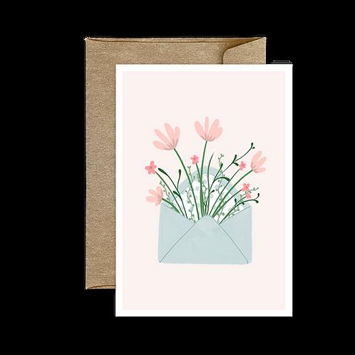 Carte Pliée Enveloppe Fleurs 🌸