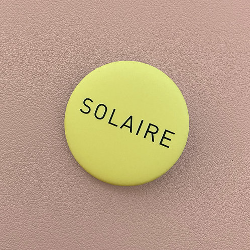 Badge Solaire Jaune