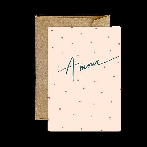 Carte Amour Rose ❤