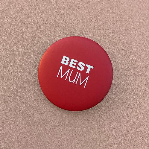 Badge Best Mum Rose-Rouge