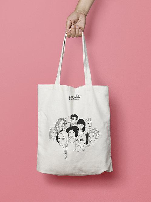 """Tote Bag """"Faces"""""""