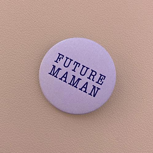 Badge Future Maman Violet