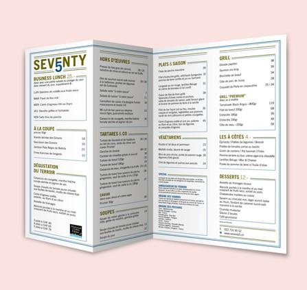 Menu Restaurant Seventy5