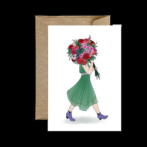 Carte Bouquet Summer