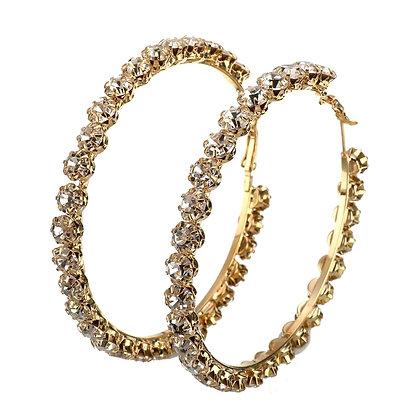 Boucles d'oreilles en or - Zircon