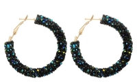 Boucles d'oreilles créoles noires