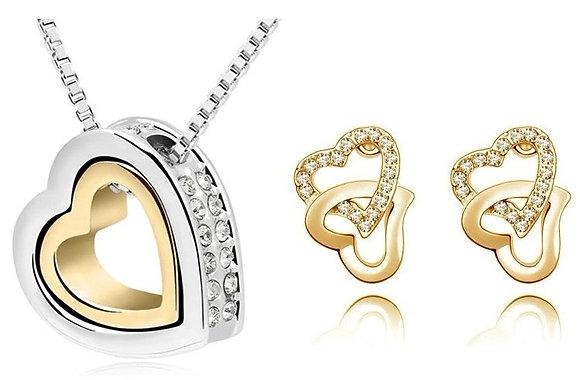 Bijoux en coeur or et argent 2 mcx