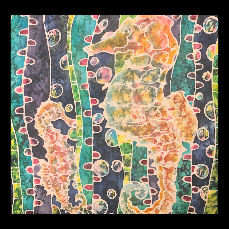 Glassine Seahorses