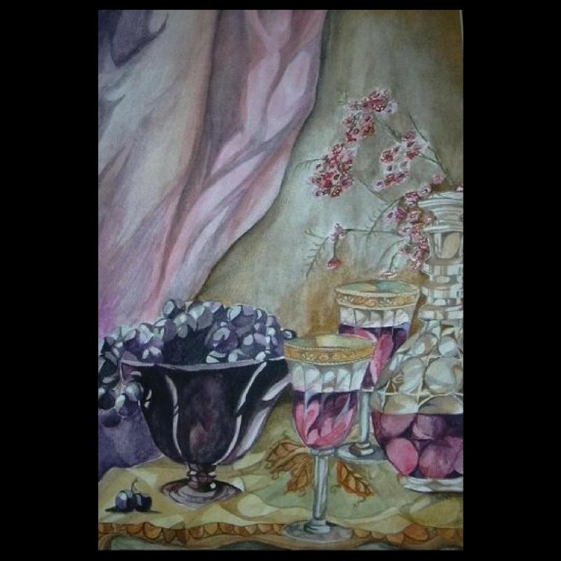 Watercolor Wine