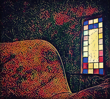 shoulder and stain glass.png