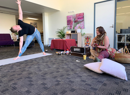 Vinyasa yoga with live music + devotional singing circle & chai
