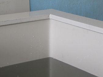 Закругленые углы ванны, увеличение прочности гальванической ванны