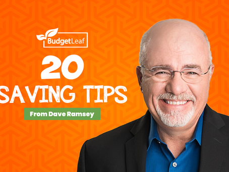 20 Saving Tips From Dave Ramsey
