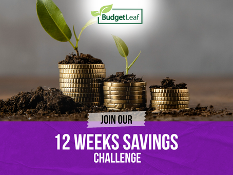 Join our 12 weeks Savings Challenge