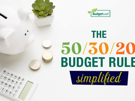 The 50/30/20 Budget Rule Simplified
