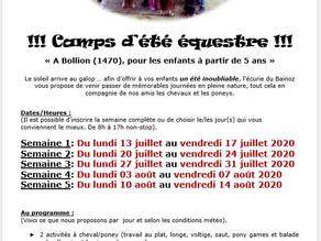 Camps d'été 2020 !!!