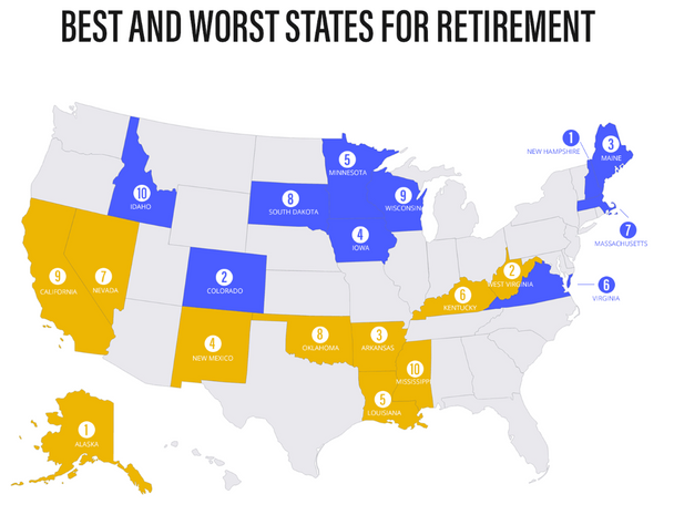 New Hampshire Rated #1 Best State to Retire in 2017