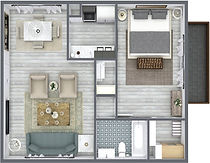 Wicked Awesome 3d floor plan