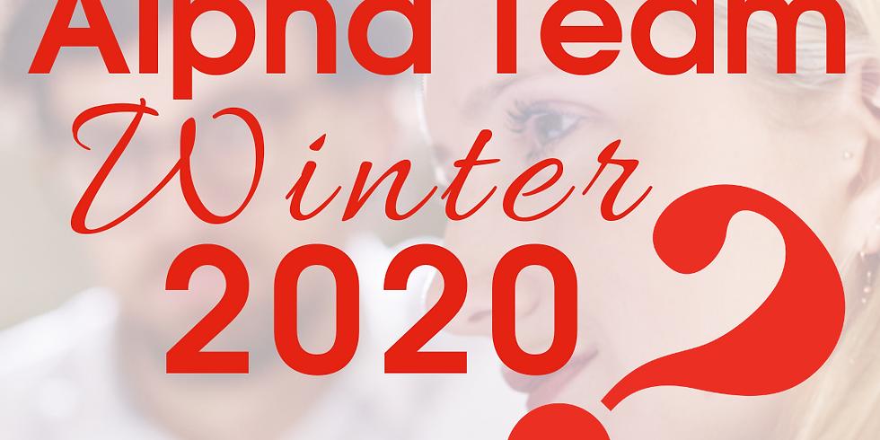 Alpha Host & Helper Weekly Feedback Form - Winter 2020