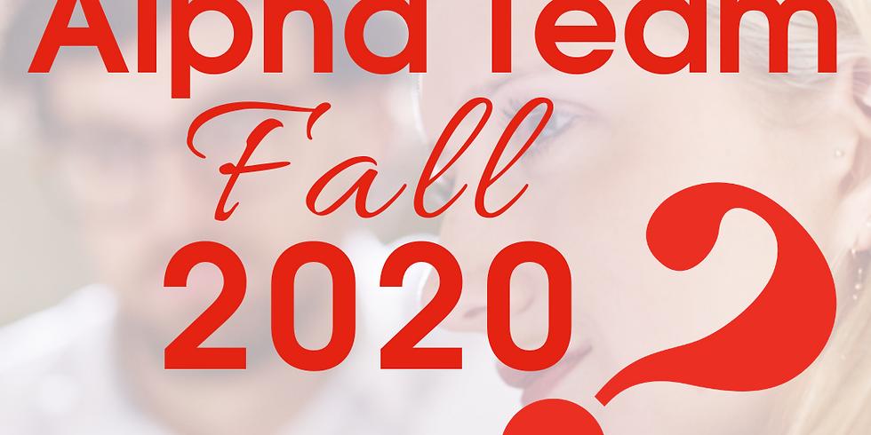 Alpha Virtual Weekly Feedback Form - Fall 2020