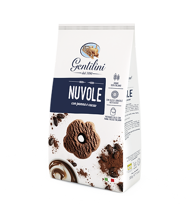 Gentilini Nuvole Cookies with Cream and Cocoa - 330g
