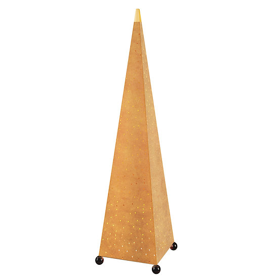 Pyramid Leather Floor Lamp
