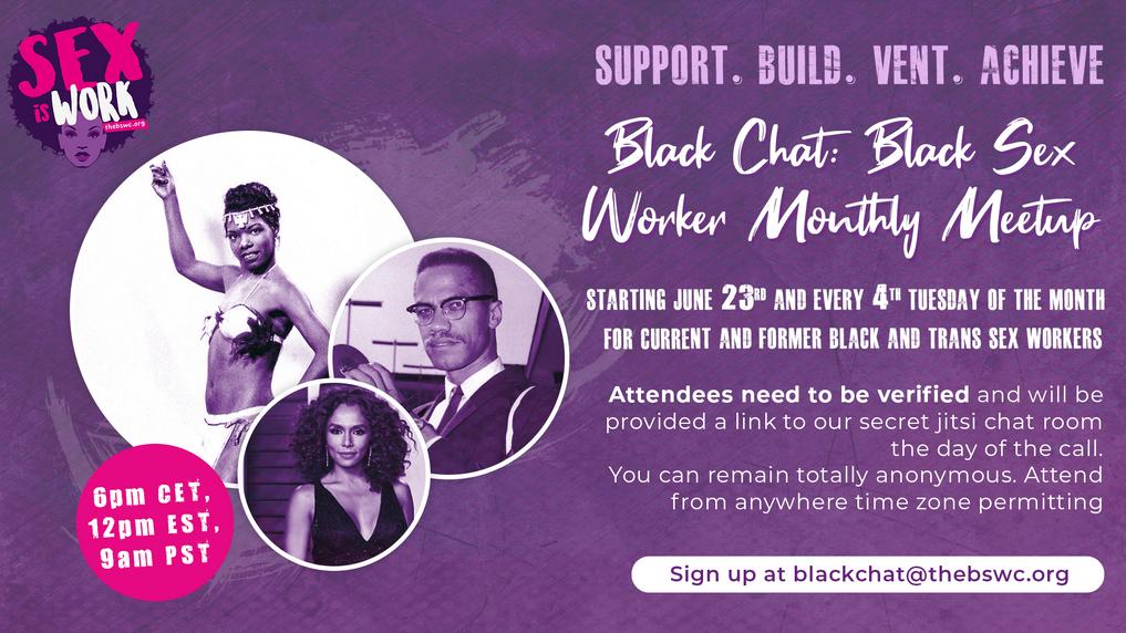 Black Chat Black Sex Worker Monthly Meet
