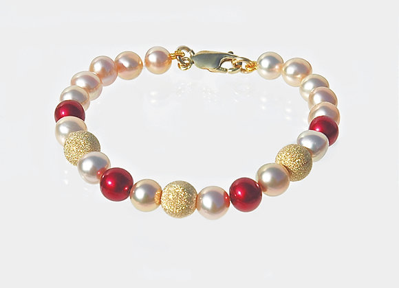 Champagne & Pearls Bracelet