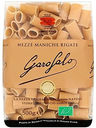 Garofalo Whole Wheat Organic Mezze Maniche Rigate  #532 - 500g