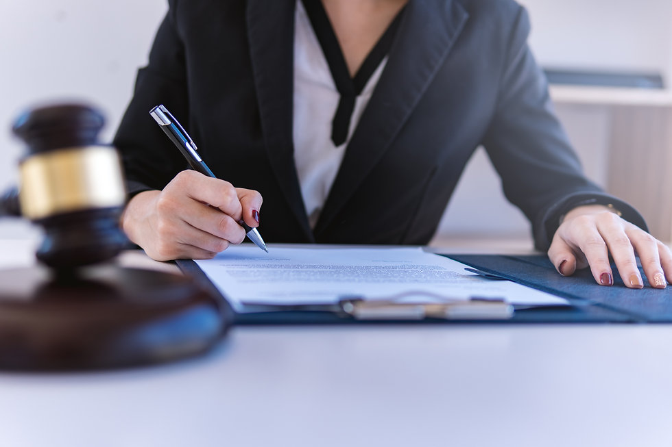 Lawyer business women working and notary