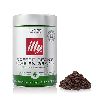 Illy Medium Roast Decaf Bean - 250g
