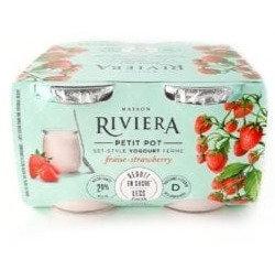 Riviera Yogurt Petits Pots Strawberry - 4x120g