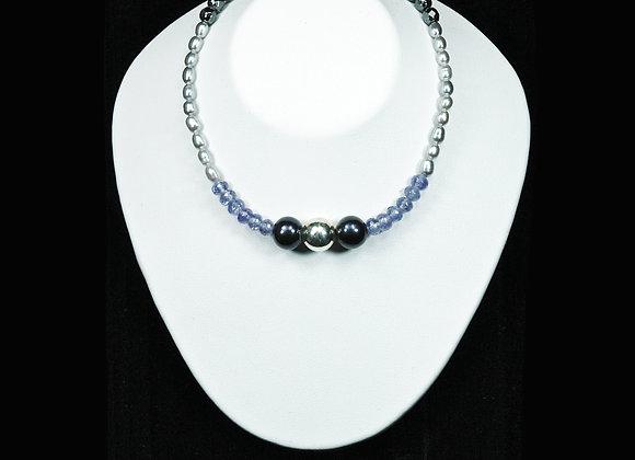 Silver Pearl Links Bracelet