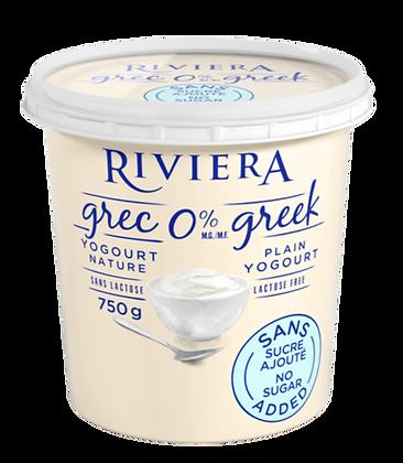 Riviera Greek Yogurt 0% - 750g