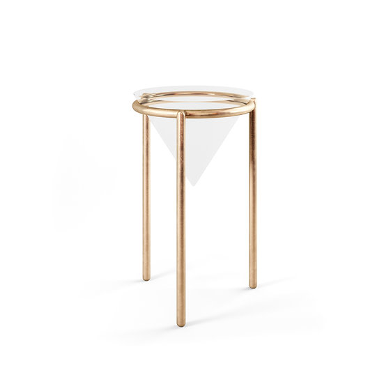 Glass Cone Side Table