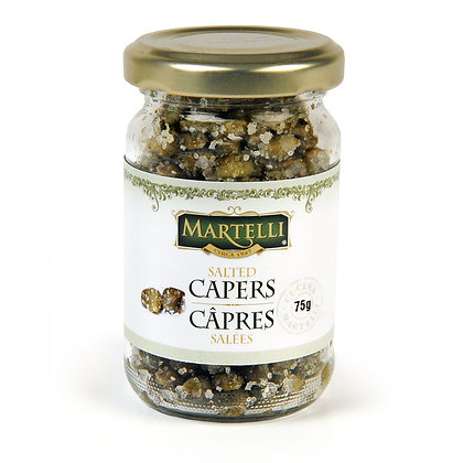 Martelli Capers in Sea Salt - 75g