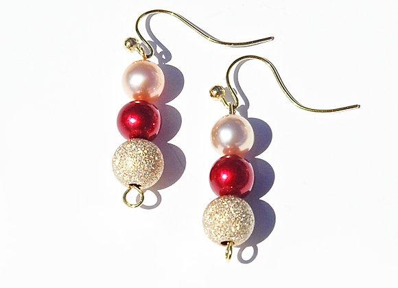 Champagne & Pearls Earrings