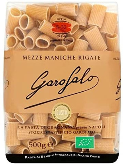 Whole Wheat Organic Mezze Maniche Rigate #532