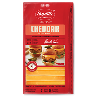 Saputo Sliced Mild Cheddar - 180g